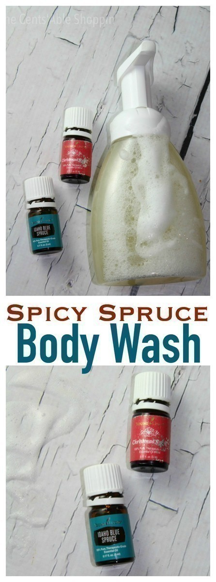 DIY Spicy Spruce Body Wash