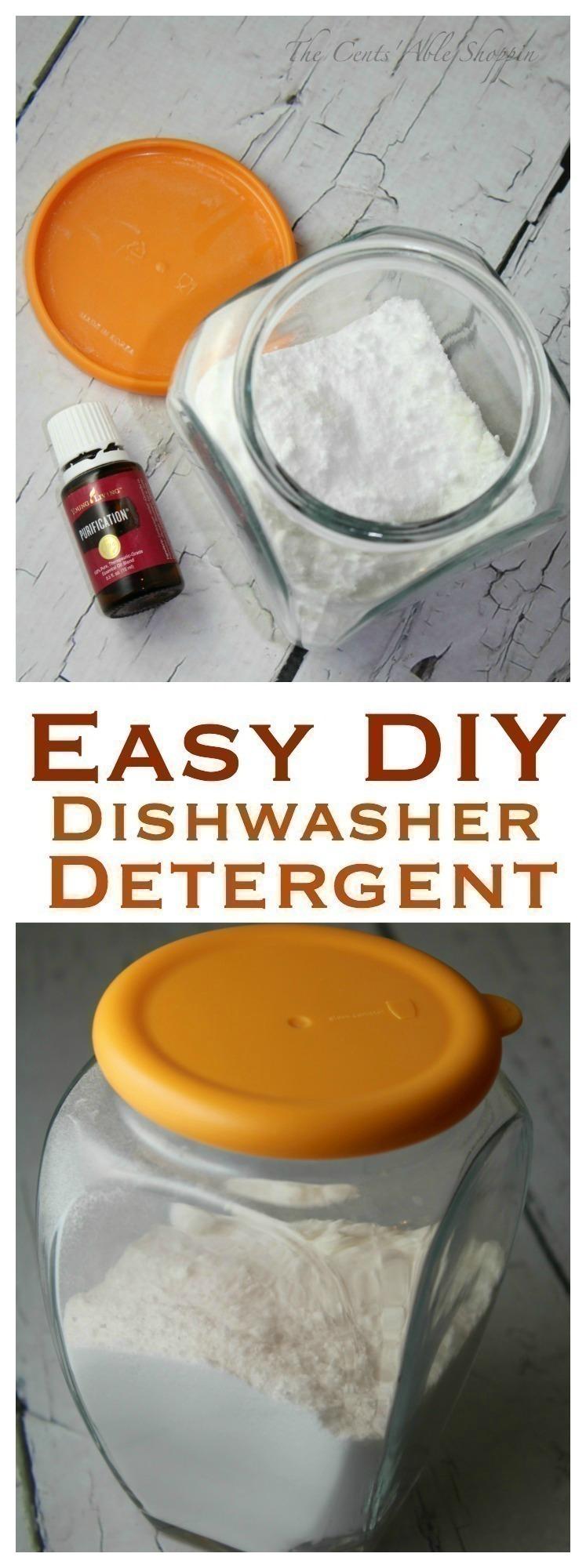 Easy DIY Homemade Dishwasher Detergent