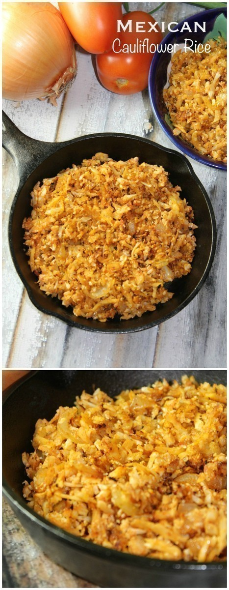 This Mexican Cauliflower Rice is a great way to use up an abundance of cauliflower!