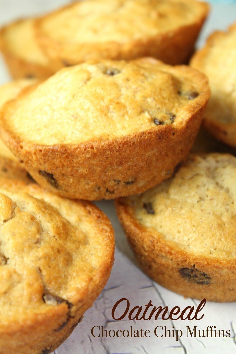 Oatmeal Chocolate Chip Muffins 2
