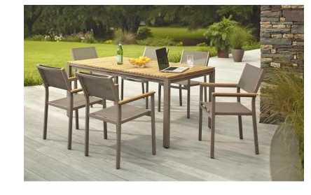 Amazing Home Depot: Barnsdale Teak 7 Piece Patio Dining Set 57% OFF