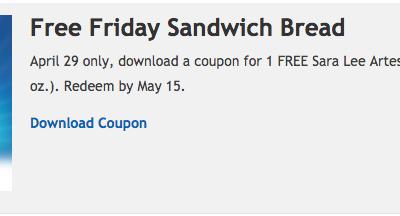 Fry's: FREE Sara Lee Artesano Sandwich Bread {Extended}