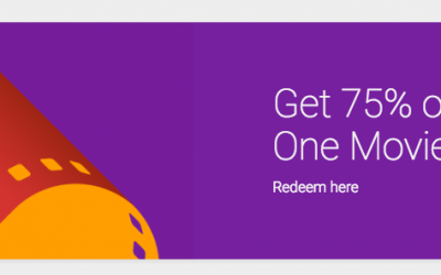 Google Play: 75% OFF ANY One Movie Rental