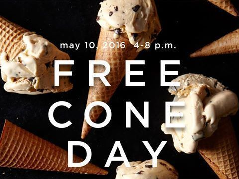 Haagen Dazs:  FREE Cone Day May 10th