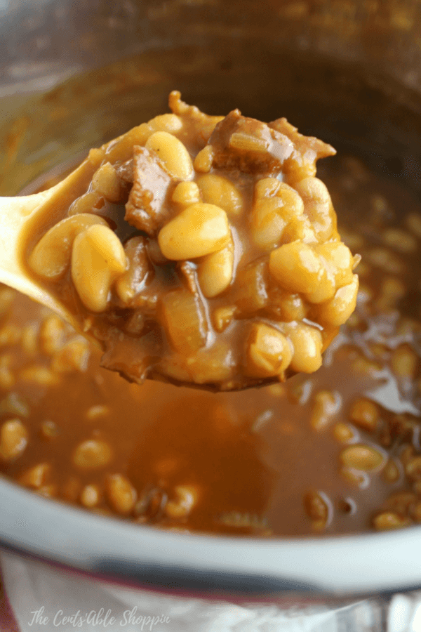 These Instant Pot Baked Beans are a little bit of sweet and a little bit of smoky!  They are easy to make, and perfect for the next summer BBQ!