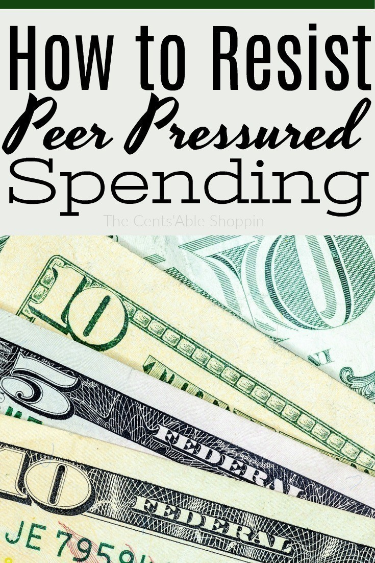 It can truly be difficult to say no to spending money when you feel pressure from family and friends, or the need to keep up with others. Find out how to resist this peer pressured spending.