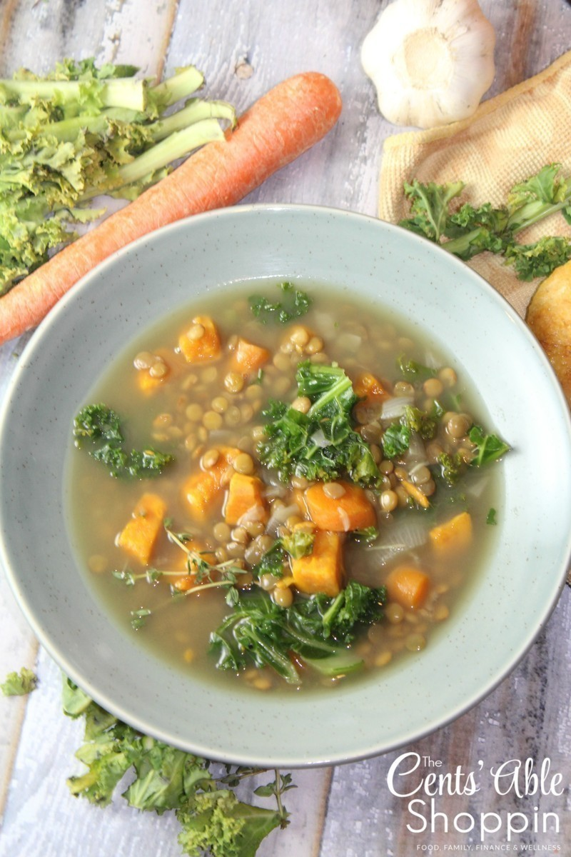 Lentil Soup with Wilted Greens