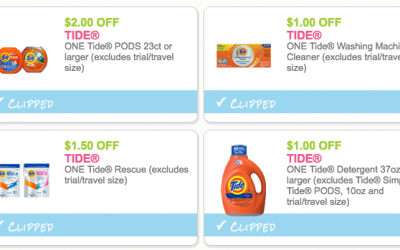 $5.50 in NEW Tide Coupons