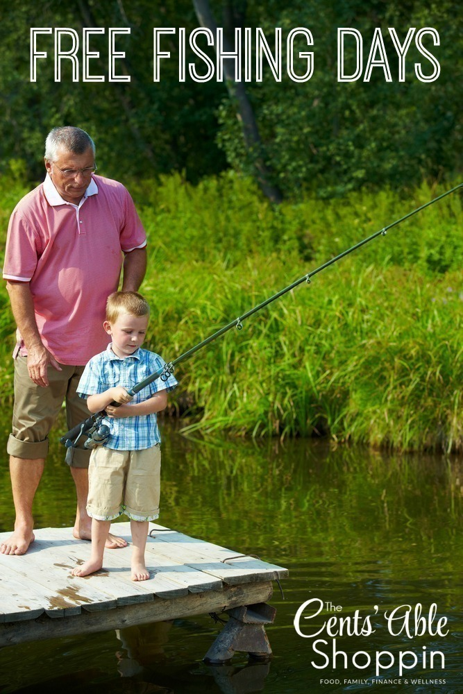 Free fishing days for 2016 for Free fishing day