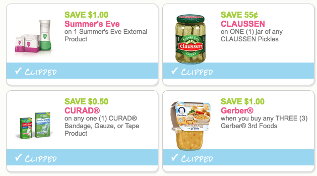 Today S New Coupons For Bounty Claussen Curad More