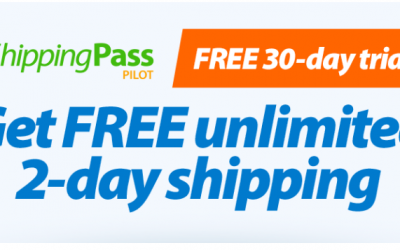 Walmart: FREE 30-Day Trial of ShippingPass (Unlimited 2-Day Shipping)