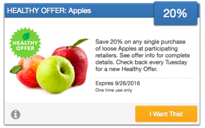Fresh Produce Coupon | 20% OFF Loose Apples