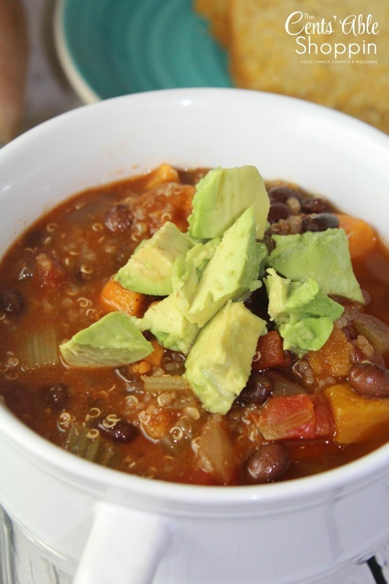 Sweet Potato Black Bean Quinoa Chili