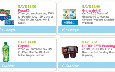 Today's NEW Coupons for Pepsi, Hershey's + More