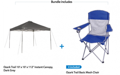Ozark Trail Canopy + 4 Chairs just $74