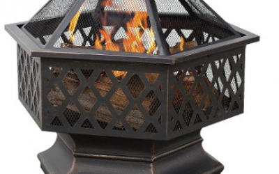 Target: UniFlame 6-Sided Oil Rubbed Bronze Outdoor Fire Pit  $40