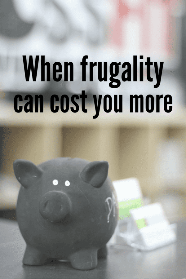 It's pretty amazing stuff when people want to make sacrifices to keep more of their money in their pocket. But in some cases, it can also backfire, too --- being frugal is great, but being too frugal can cost you more.