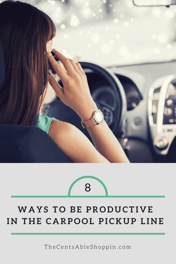 8 Ways to be Productive in the Carpool Pickup Line
