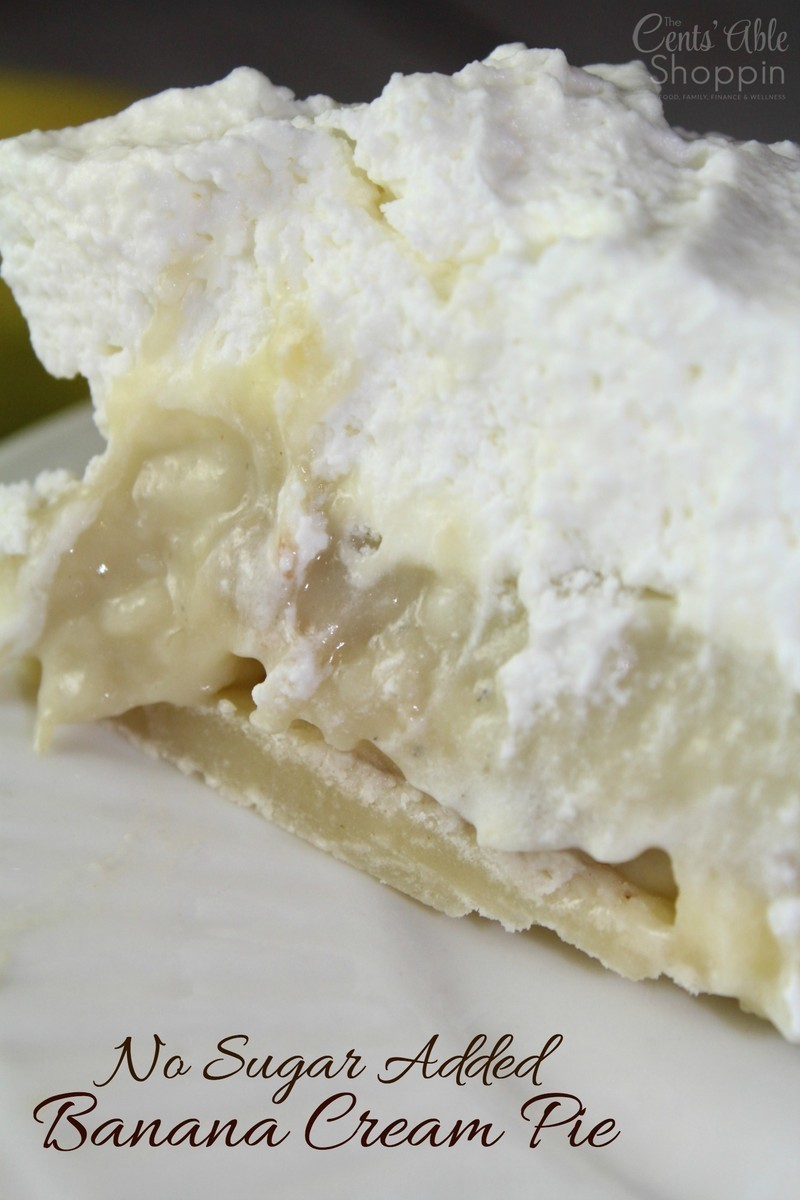No Sugar Added Banana Cream Pie