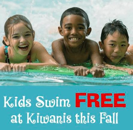 Kids Swim Free at  Kiwanis Recreation Center