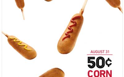 SONIC Drive In: $.50 Corn Dogs