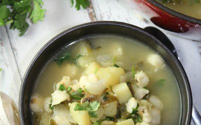 Meatless Potato Hominy Soup