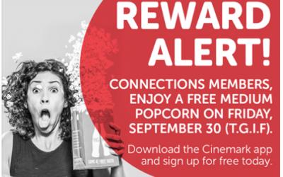 Cinemark Theaters: FREE Medium Popcorn (9/30)