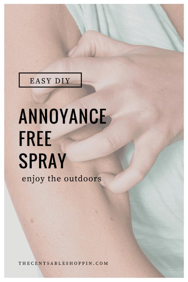 Easy DIY Annoyance Free Spray with Essential Oils