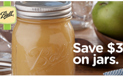 New Coupon for $3 OFF Canning Jars