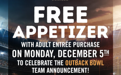 Outback Steakhouse: FREE Appetizer with Adult Entree Purchase