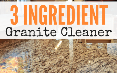 3 Ingredient Granite Cleaner