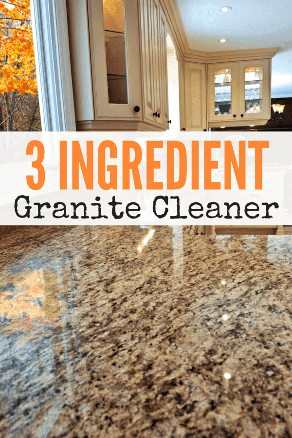 Granite is a very popular countertop choice for many Americans - it is harder and less porous than other countertop varieties, that doesn't necessarily mean that it is not affected by really strong cleaning chemicals. Here's an easy 3 ingredient granite cleaner that is effective and inexpensive!