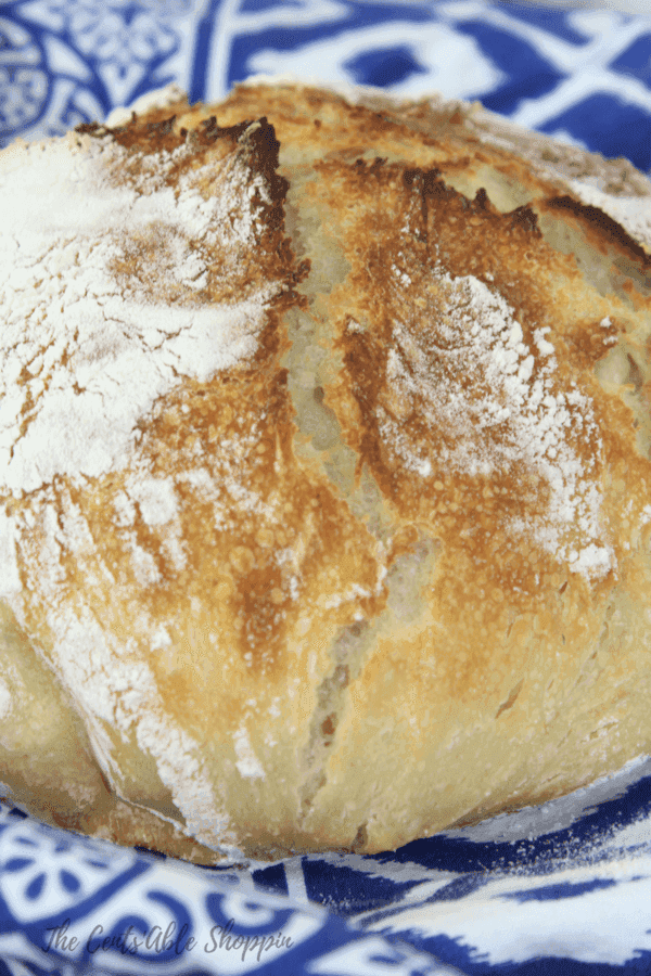 A delicious loaf of homemade sourdough bread with just 4 ingredients including raw milk kefir.