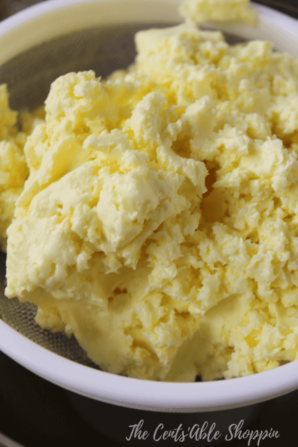 Making butter is incredibly easy and gratifying - this is just one of many steps to making your own at home.