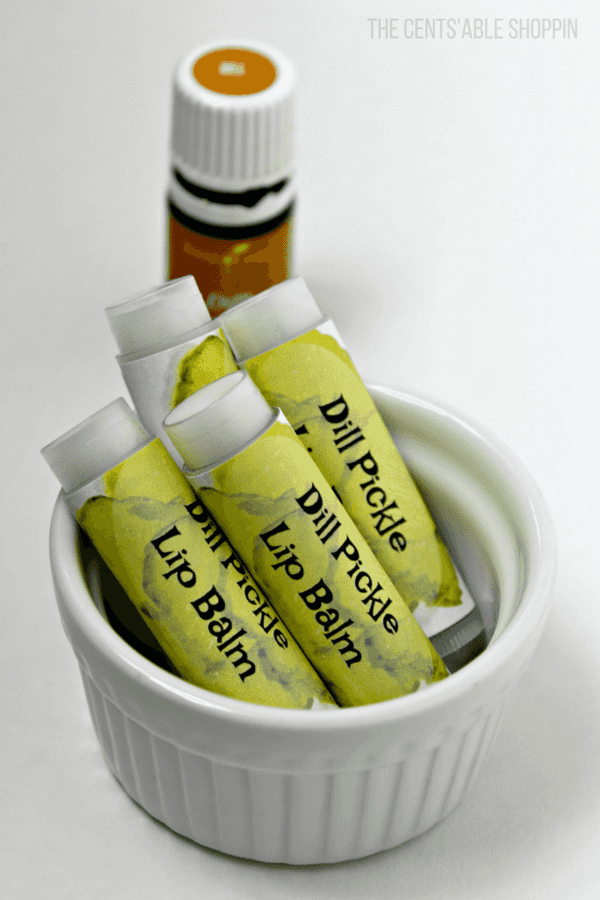 Dill essential oil is one of several essential oils that can help support your hormones, and healthy digestion to help you move past sugar cravings.  This Dill Pickle Lip Balm is great for warding off those cravings AND for keeping your lips healthy!