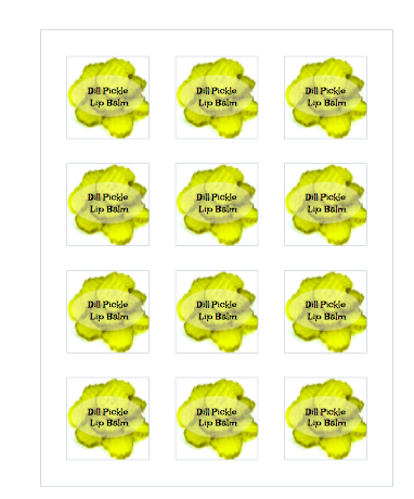Dill Pickle Lip Balm Labels
