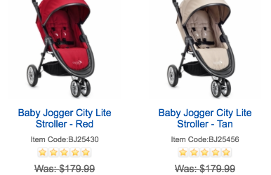 Baby Jogger City Lite Stroller + Accessory Pack $99.99 Shipped