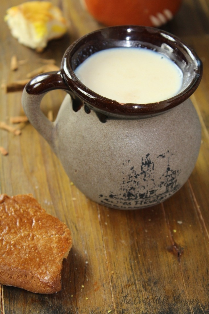 Atole is a thick Mexican beverage made by scooping out the contents of a vanilla bean and combining with milk, piloncillo and masa and thickened over low heat and served warm in mugs.