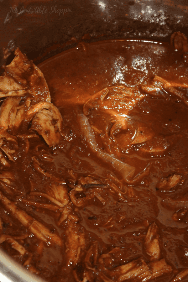 A wonderful Turkey Mole is a combination of sweet and savory with a touch of heat - made in under 30 minutes in your Instant Pot.