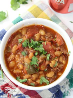 Instant Pot Frijoles Borrachos (Drunken Beans)