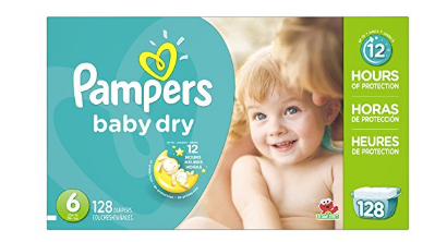Amazon: Pampers Baby Dry 128 ct just $14