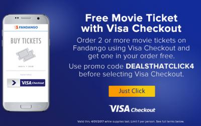 Fandango: Buy 1 Get 1 FREE Movie Ticket