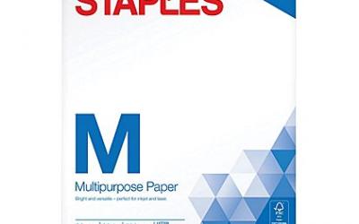 Staples: 8 1/2 x 11 Multipurpose Paper $.01