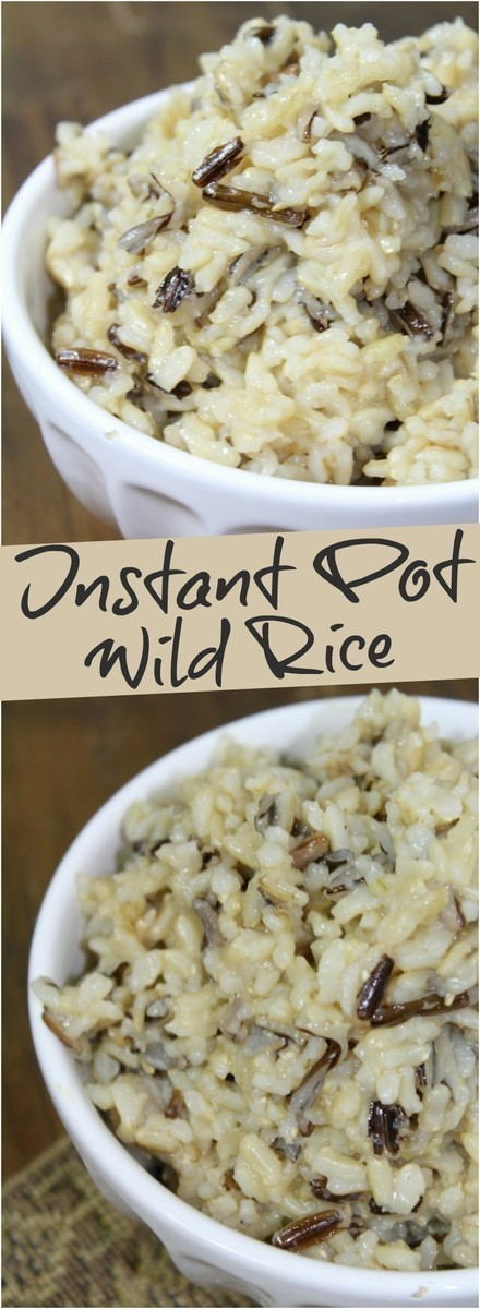 Wild rice cooks up easily in the Instant Pot in 30 minutes or less.