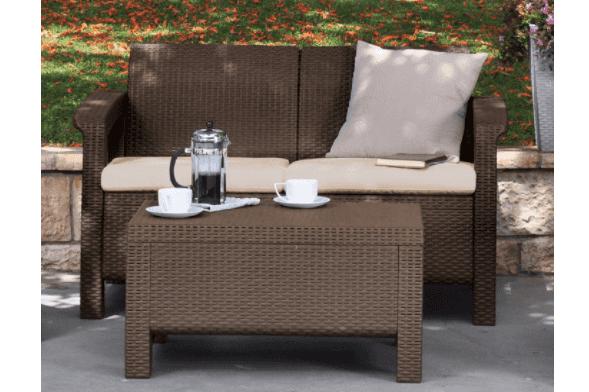 amazon corfu love seat all weather patio garden furniture 91