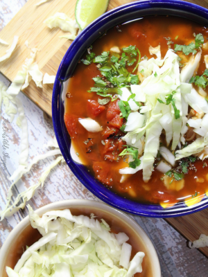 Vegetarian Posole with Frijoles and Hominy