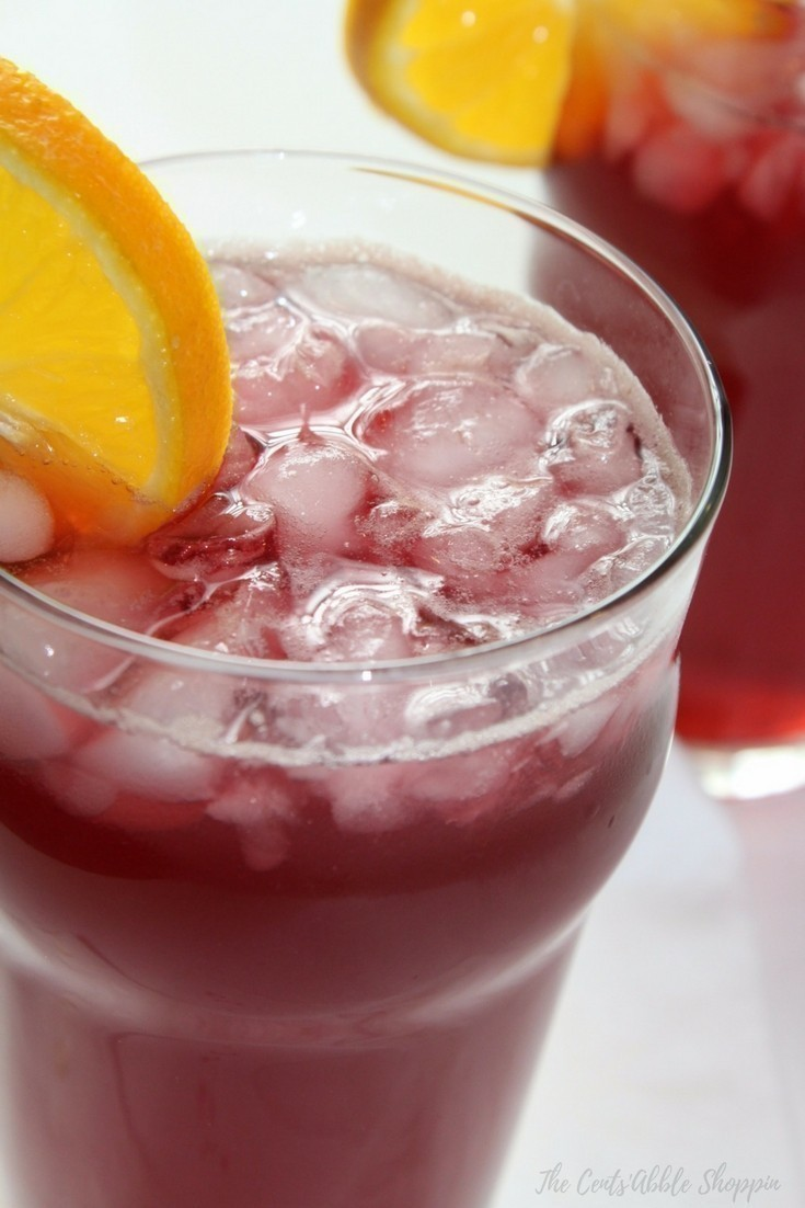 Agua de Jamaica is a typical agua fresca that accompanies meals in Mexico. It is made with dried hibiscus flowers, water and the sweetener of your choice.