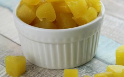 Homemade Peach Fruit Snacks