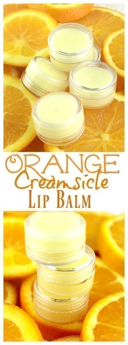A juicy, orange creamsicle lip balm that is non-toxic and SO easy to DIY!