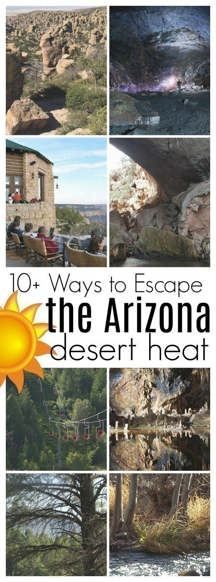 Looking for a way to cool off during the hot, Arizona summer? Here are over 10 ways to escape the Arizona desert heat.